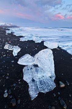 Iceland, Black Sand Beach. Dream of mine to see a black sand beach. AND ICELAND!!! 2 in one!