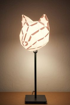 DIY paper lampshade  ( Etsy:: http://www.etsy.com/listing/112301069/cat-small-do-it-yourself-paper-lampshade )