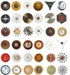 George Nelson starburst clocks, any. George Nelson, Mid Century House, Mid Century Style, Mid Century Modern Design, Charles & Ray Eames, Cool Clocks, Eileen Gray, Marcel Breuer, Danish Modern
