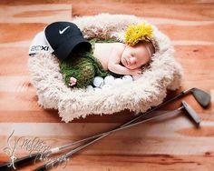 golf scene - Newborn photos - baby photography - New Orleans - Milestone Photography