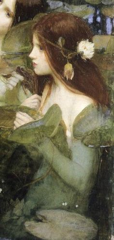 John William Waterhouse. Hylas and the Nymphs, detail