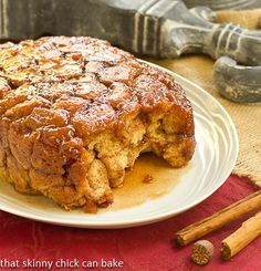 Apple Monkey Bread (in the Crock Pot!) | That Skinny Chick Can Bake #crocktoberfest2013