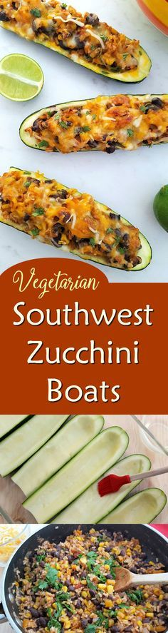 Vegetarian Southwest Zucchini Boats Recipe - gluten free