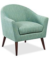 Collin Fabric Accent Chair, Direct Ship