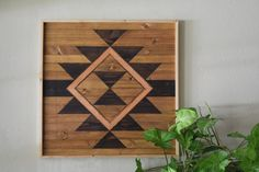 Reclaimed Wood Wall Art Hanging Large by RoamingRootsWoodwork