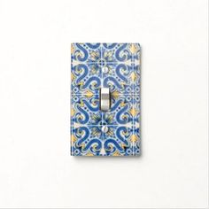 Rippling Tropical Blue Water Light Switch Cover | Zazzle.com Yellow Tile, Glass Ceiling Lights, Water Lighting, Custom Lighting, Light Switch Covers, Light Up, Tropical, Portugal, Gender