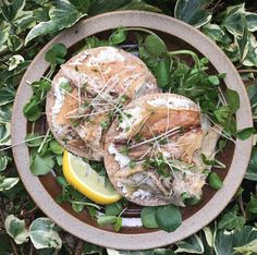 Spring salad inspiration from Not Just A Pretty Plate: Our crispbreads topped with lemony mashed feta, smoked mackerel, cress and plenty of black pepper. #TheNaturalChoiceForSpring