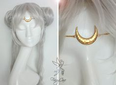 Sailor Moon circlet. Princess and Queen Serenity by FairyCaveShop