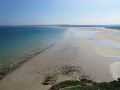 Porth Kidney Beach from Edge O' Cliff
