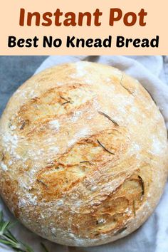 Instant Pot Olive Oil Rosemary No Knead Bread - One of my favorites version/variation of making No-Knead Bread for Holiday Dinner Table Which is Vegan. Best Instant Pot Recipe, Instant Recipes, Instant Pot Dinner Recipes, Knead Bread Recipe, No Knead Bread, Basic Bread Recipe, Holy Bread Recipe, Crusty Bread Recipe Quick, Easy Bread Recipes