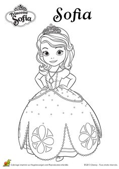 sofia coloring pages | ... Sofia da Disney para colorir / 3 Princess Sophia coloring pages