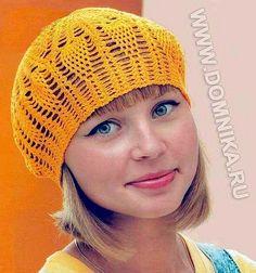 Free Crochet Pattern Hat- Pineapples! My favorite crochet motif.