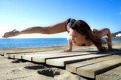 Playing with Yoga arm balances