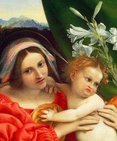 Lorenzo Lotto: Detalle de Virgen y el Niño.