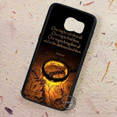 Rings on Map Gandalf Quote - Samsung Galaxy S7 S6 S5 Note 7 Cases & Covers