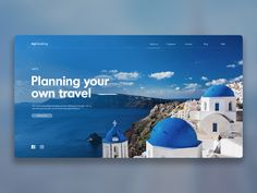 Travel UX/UI design mock up by Hyunjoo Lee - Dribbble Travel Website Design, Website Design Layout, Web Layout, Travel Design, Layout Design, Dashboard Design, Ui Ux Design, Interface Design, Graphic Design