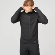 Check out our Men's Zip Up Training Hoodie featuring contrast fabric panelling, reflective trims and textured waffle fabric. Sports Sweatshirts, Hoodies, Gym Men, Zip Ups, High Neck Dress, Dresses, Fashion, Turtleneck Dress, Vestidos