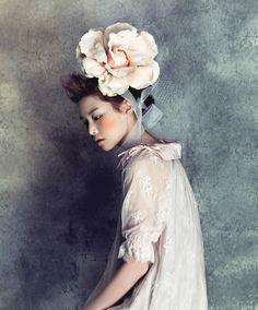 huge flower hairpiece