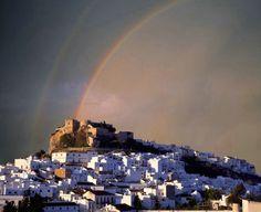 Rainbow over Salobrena, Spain on the Costa del Sol