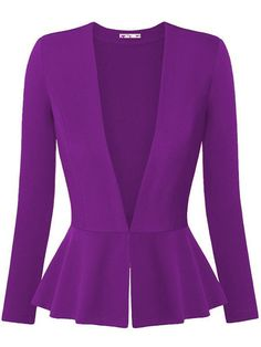 """HOT PRICES FROM ALI - Buy """"Women Blazers and Jackets Autumn Slim Ladies Blazers Office Work Wear Business Jacket Tunic Top Elegant Outwear blazer feminino"""" from category """"Sports & Entertainment"""" for only USD. Blazers For Women, Suits For Women, Jackets For Women, Clothes For Women, Ladies Blazers, Women's Blazers, Peplum Blazer, Peplum Jacket, Rocker"""