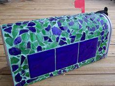 Mailbox of mosaic