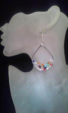 Silver Wire Earrings Wire Wrapped Earrings by SoftlySisterDesigns