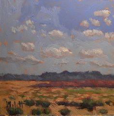 Heidi Malott Original Paintings: Impressionism Southwest Desert Landscape Contemporary Daily Oil Painting
