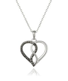 Look what I found on #zulily! Black Diamond Infinity Heart Pendant Necklace by Designs by FMC #zulilyfinds