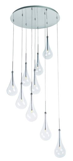 View the ET2 E20515-18PC Larmes LED 9 Light Pendant at LightingDirect.com.