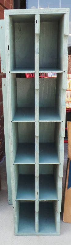 Green 10 Cubed Storage Cabinet