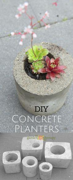 These DIY concrete g