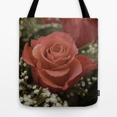 """Sepia Roses image Tote Bag by gunadesign - $22.00  it is hand sewn in America using durable, yet lightweight, poly poplin fabric. All seams and stress points are double stitched for durability. They are washable, feature original artwork on both sides and a sturdy 1"""" wide cotton webbing strap for comfortably carrying over your shoulder."""