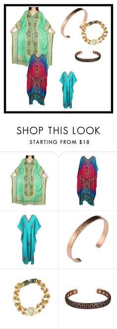 Kaftan Bohemian Style by era-chandok on Polyvore featuring Therapy, bracelet, caftan, sale and offer