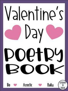 Valentineu0027s Day Poetry Book. Celebrate Valentineu0027s Day With Poetry. Bio  Poem, Haiku,