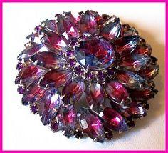 Vintage Designer Brooch Pin Layered Pink by BrightgemsTreasures, $49.50