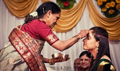 A bride being blessed by her mother during a traditional ritual... #knots and vows #wedding photographer #mumbai wedding photographer #mumbai wedding photography #hindu wedding