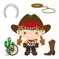Cowboy All Royalty Free Stock Vector Art Illustration