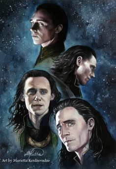 Loki in; Thor, Avengers, Thor: The Dark World and Thor Ragnarok