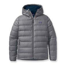 Patagonia Men's Hi-Loft Down Sweater Hoody - Perfect for when it snows! Recycled polyester RULES!