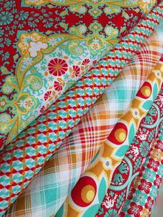 Notting Hill Fabric bundle by Joel Dewberry for Free Spirit Fabrics- Fat Quarter Bundle, 6 total
