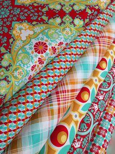 Notting Hill Fabric bundle by Joel Dewberry for Free Spirit Fabrics- Fat Quarter Bundle, 6 total