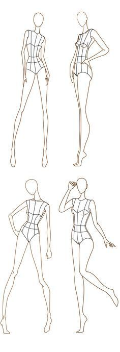 Drawing Faces Tips Free Fashion Croquis: 120 Fashion Figure Templates - Fashion Design Sketchbook, Fashion Design Portfolio, Fashion Design Drawings, Fashion Sketches, Croquis Fashion, Fashion Illustration Poses, Fashion Illustration Template, Illustration Mode, Fashion Design Illustrations