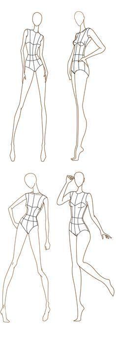 figurines de moda para vestir frente y espalda - Buscar con Google