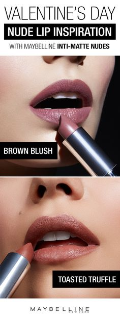 Want to rock a nude lipstick for your Valentine's Day makeup look?  These gorgeous darker nude shades are the perfect flattering nude lipsticks for any date night makeup.