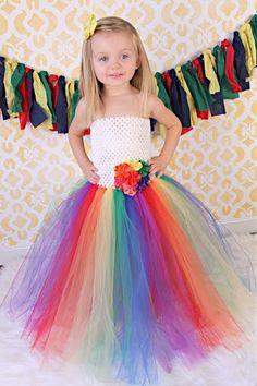Newborn - Size 9 Rainbow Tutu Dress