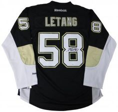 8af1caa11 Kris Letang Autographed Penguins Home Black Premier Jersey - JSA Witness  COA