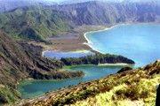 Lagoa verde, lagoa azul, Sete Cidades, Sao Miguel, Acores, Portugal