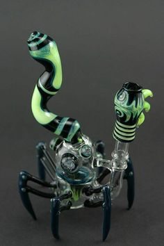 "Ninja Glass ""The Spyder"" Sylme Vapor Bubbler"