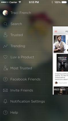 Adapting UI to iOS 7: The Side Menu | UX Magazine