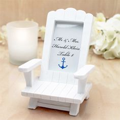 Adirondack Chair Place Card Holder - Beach Theme Wedding Favors - Wedding Favor Themes - Wedding Favors & Party Supplies - Favors and Flowers